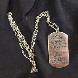 Other - Tag necklace